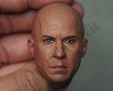 Eleven Custom 1/6 Scale Vin Diesel 2.0 Head Sculpt For Hot Toys Body