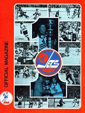 1976/77 Winnipeg Jets Home vs Quebec Nordiques WHA World Hockey Assn Program