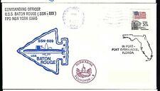 1983 USS Baton Rouge SSN 689 Ship Cover  a