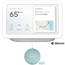 Google Home Hub with Google Assistant (GA00516-US) - Chalk with Google Home Mini