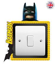 LEGO BATMAN Light Switch Surround Wall Sticker KIDS BOYS GIRLS Cover Decal
