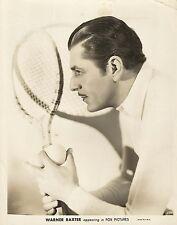 WARNER BAXTER PORTRAIT with a Tennis Racket 1920's SILENT ERA