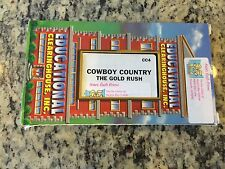 COWBOY COUNTRY THE GOLD RUSH OOP VHS HISTORY EDUCATIONAL LEARNING WEST MIGRATION
