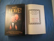 Gordie Howe and...Howe! Signed Book  Mr. Hockey Detroit Red Wings COA Autograph