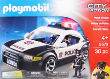Playmobil US Police Car 5673 Polizeiauto mit Blinklicht 2 Polizisten NEW NEU