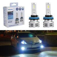 For Philips H11 Led Ultinon Essential Car White Headlight Bulbs 6500K 24W 2Pcs