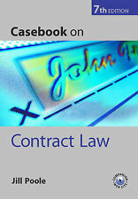 Casebook on Contract Law, Poole, Jill , Acceptable, FAST Delivery