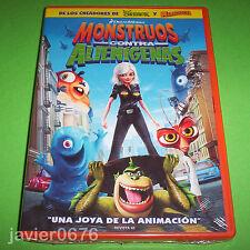 MONSTRUOS CONTRA ALIENIGENAS DREAMWORKS DVD NUEVO Y PRECINTADO