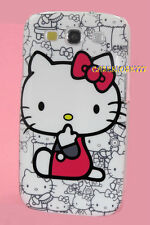 for samsung galaxy S3 cute kitty kitten case hot pink white black i9300 SIII
