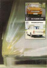 Trabant 601 1978 Sales Brochure In German Saloon S De Luxe Universal