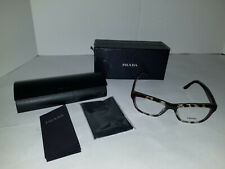 NEW AUTHENTIC PRADA VPR 04T U6K-101 Eyeglass frames Brown Red 52-16-140 W/CASE
