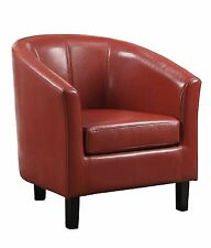 Faux Leather Living Room Contemporary Chairs with 1 Pieces