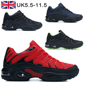 Mens Absorbing Trainers Running Shoes Casual Shock Lace Gym Walking Sports Size