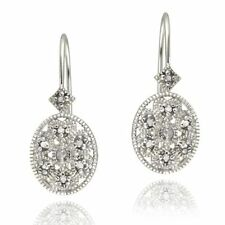 Unbranded Leverback Diamond Fine Earrings