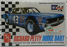 RICHARD PETTY DODGE DART SHORT LATE TRACK RACE CAR KIT SPORTSMAN AMT MODEL KIT
