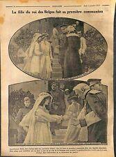 Première Communion Princesse José Roi Albert Reine de Belgique  WWI 1916