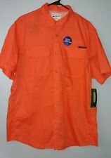 Field & Stream Men's Large Vented Fishing/Outdoor Short Sleeve Shirt Orange