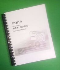 LASER 8.5X11 Olympus VG-110 D-700 Camera 74 Page Owners Manual Guide
