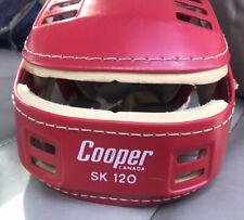 VTG COOPER SK 120 Senior Red Helmet Hurling Canada Hockey  Chin 100 Free Former