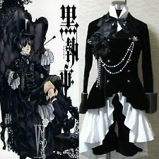 Black Butler Ciel Phantomhive Black Suit Outfit Cosplay Costume