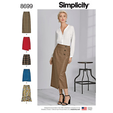 Simplicity Sewing Pattern 8699 Women's Wrap Skirts with Length Variations