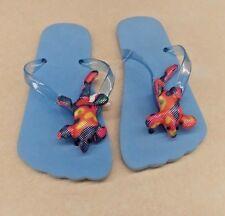 Multi Colored Lizard Blue Flip Flops - Size 10