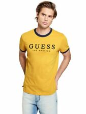 2852bc2f95ee GUESS Factory Men's Kirk Striped-Trim Logo Tee