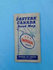 EASTERN CANADA ROAD MAP IMPERIAL OIL LIMITED DEALER SERVICE ADVERTISING 1938