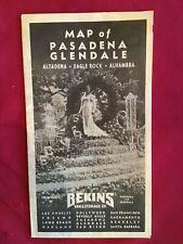 1940 Bekins Map Of Pasadena, Glendale & More