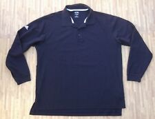 Adidas Golf Long Sleeve Black Polo Shirt ~ Men's Large L ~ LS ClimaLite Cotton