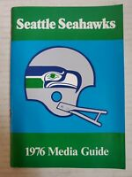 1976 SEATTLE SEAHAWKS Official Press Media Guide RARE 1ST Year NFL FOOTBALL AFC