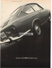 1968 Fiat 850 Fastback Coupe Vtg Print Ad
