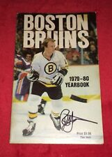 Rick Middleton Boston Bruins Signed Autograph 1979-80 Yearbook Ray Bourque Rc Yr