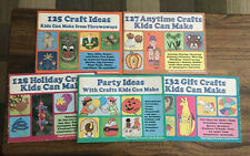 Lot of 5 Books Crafts Kids Can Make Highlights Creative Craft Series 1981