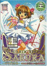 Anime Cardcaptor Sakura The Complete TV Series 1 - 70 End + 2 Movies DVD Box Set