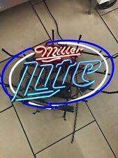 Miller Lite Neon Light Sign Home Beer Bar Pub Recreation Room Game Man Cave, New