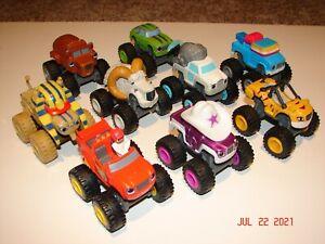 Lot of 9 - 2014 Viacom Mattel BLAZE & THE MONSTER MACHINES Trucks & Animals