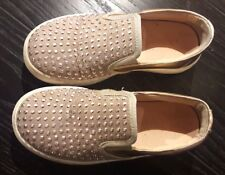 FLORENS SNEAKERS SLIP ON IN PELLE COLOR ORO ROSA - COME NUOVE