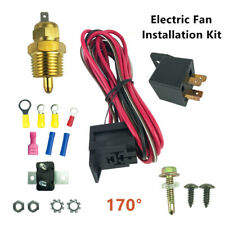Electric Fan Wiring Install Kit Complete Thermostat 50 Amp Relay 185 Degree BBC