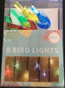 2 Packs Of 8 Bird Lights White By Summer Living