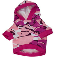 Pet Dog Clothes Camouflage Hoodie Coat Jacket Apparel Camo Sweatshirt Winter
