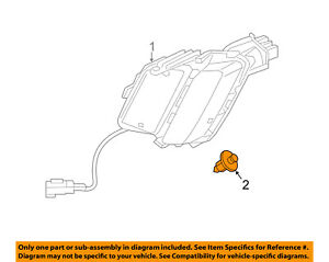 VOLVO OEM 07-14 XC90 Front Bumper Grille Grill-Support Clip 3533394
