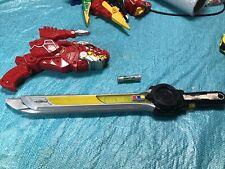 Power Rangers Dino Super Charge Red T-Rex Morpher Blaster & ninja steel sword