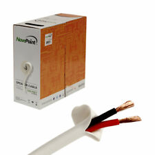 500ft In Wall Audio Speaker Cable Wire CL2 16/2 AWG Gauge 2 Conductor Bulk White