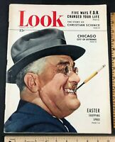 Original 1949 Look Magazine FDR Cover Smoking - History of Christian Science