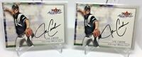 (2) LOT 2000 FLEER AUTOGRAPHICS JOE CREDE CHICAGO WHITE SOX AUTO ON CARD MINT
