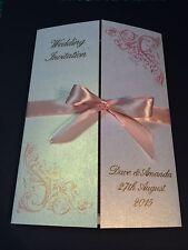 Handmade Gatefold Style Personalised wedding invitation