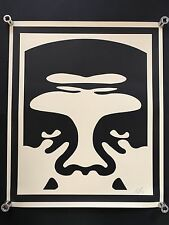 Shepard fairey obey giant face 1 crème signé rare art large print hand signed