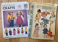 """McCalls Doll Clothes Pattern # 9449 and # 9067 12- 22"""" Dolls"""