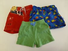 3 Old Navy Wee Wave Baby Boys Size 3-6M Swim & Knit Shorts Lot Great Condition